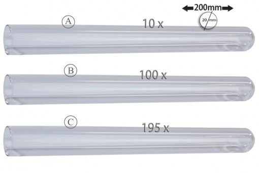 Reagenzgläser 200x20mm, Glas